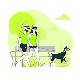 Ilustración del concepto de día en el parque