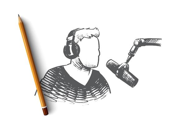 Ilustración de concepto de día de radio