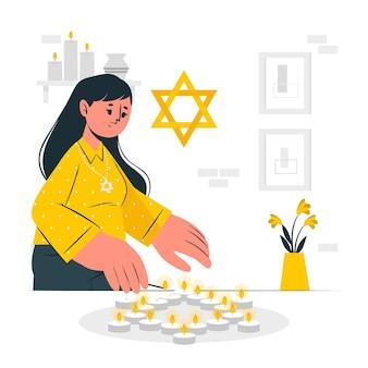 Ilustración del concepto del día del recuerdo del holocausto