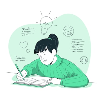 Ilustración del concepto de diario
