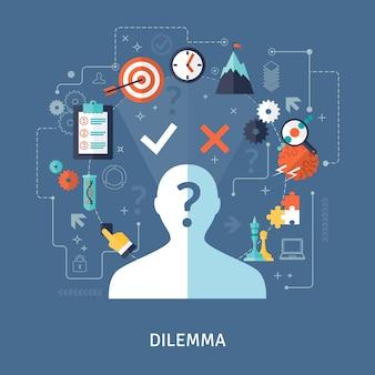 Ilustración del concepto del dilema