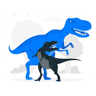 Ilustración del concepto de dinosaurios