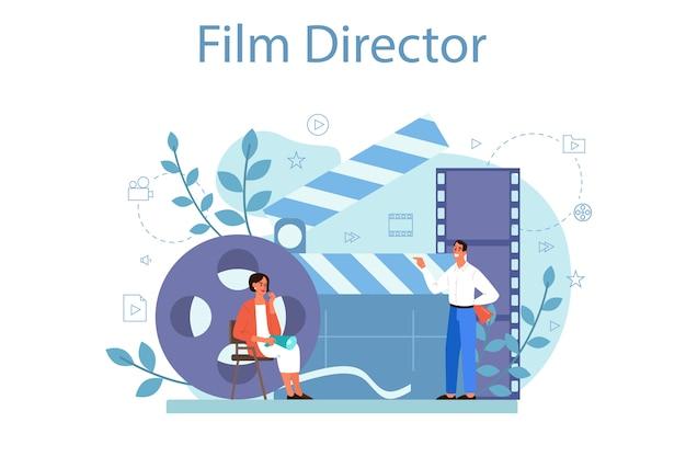 Ilustración del concepto de director de cine