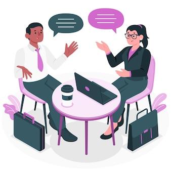 Ilustración del concepto de discusión