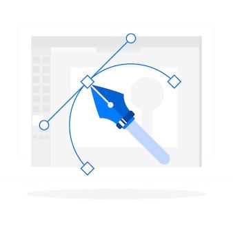 Ilustración del concepto de diseñador gráfico