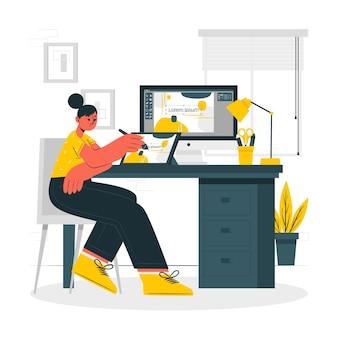 Ilustración del concepto de diseñador