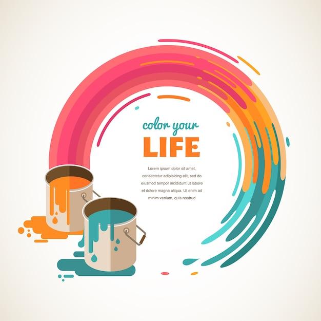 Ilustración de concepto de diseño, creatividad, idea y color