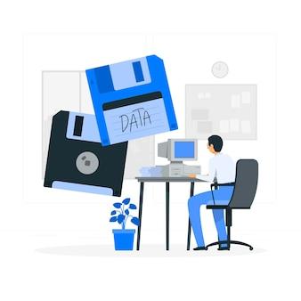Ilustración del concepto de disquete