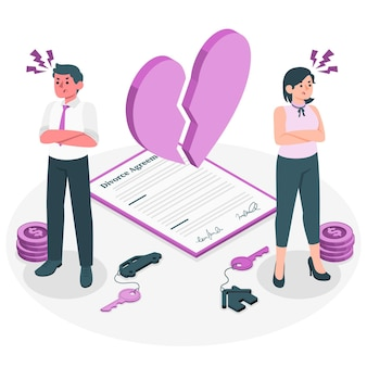 Ilustración del concepto de divorcio