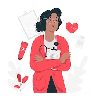Ilustración del concepto de doctor