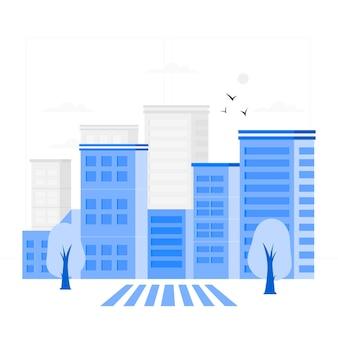 Ilustración del concepto de edificio