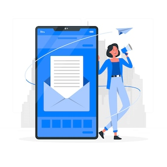 Ilustración del concepto de email marketing