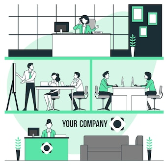 Ilustración del concepto de empresa