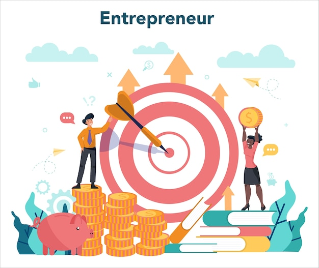 Ilustración del concepto de empresario