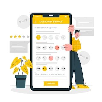 Ilustración del concepto de encuesta al cliente