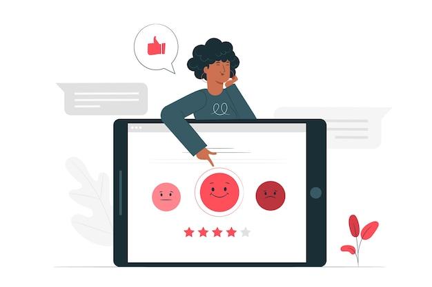 Ilustración de concepto de encuesta a los clientes