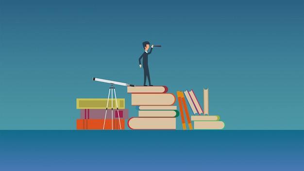 Ilustración del concepto de enseñanza futura.