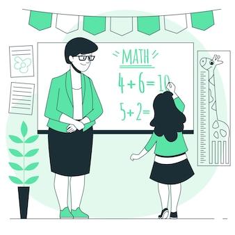 Ilustración del concepto de enseñanza