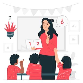 Ilustración del concepto de enseñar