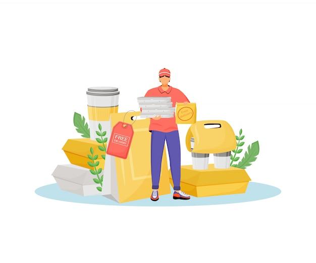 Ilustración del concepto de entrega gratuita.