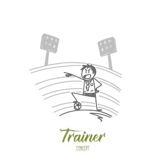 Ilustración del concepto de entrenador