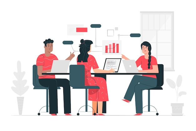 Ilustración de concepto de equipo
