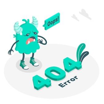 Ilustración del concepto de error 404 monstruo