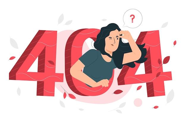 Ilustración del concepto de error 404