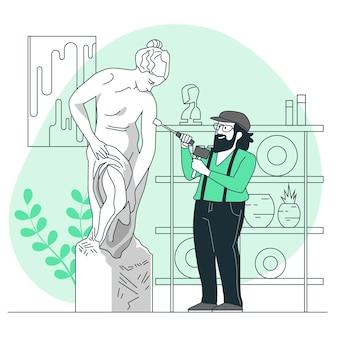 Ilustración del concepto de escultura