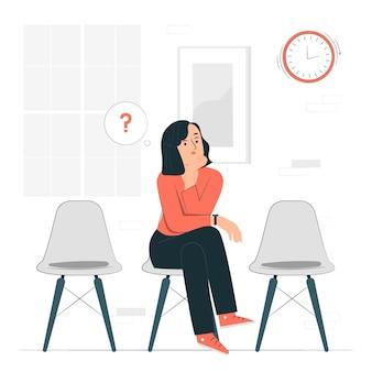 Ilustración del concepto de espera