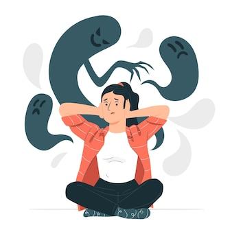 Ilustración del concepto de esquizofrenia