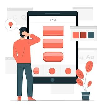 Ilustración de concepto de estilo de botón