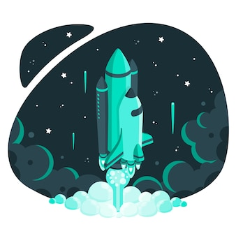 Ilustración de concepto hacia las estrellas