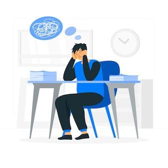 Ilustración del concepto de estrés