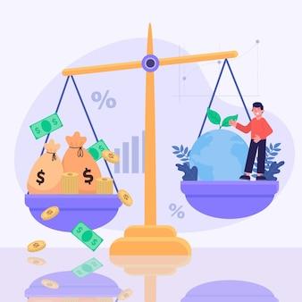 Ilustración del concepto de ética empresarial
