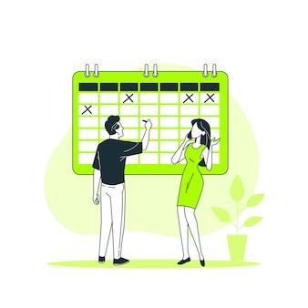 Ilustración del concepto de evento