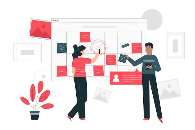 Ilustración de concepto eventos
