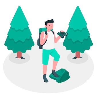 Ilustración del concepto de explorar