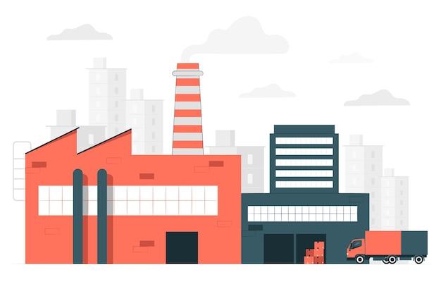 Ilustración del concepto de fábrica