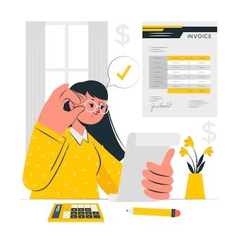 Ilustración del concepto de factura