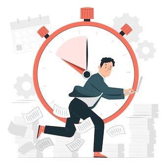 Ilustración del concepto de fecha límite