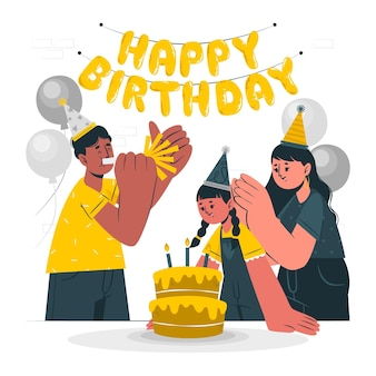 Ilustración de concepto de feliz cumpleaños