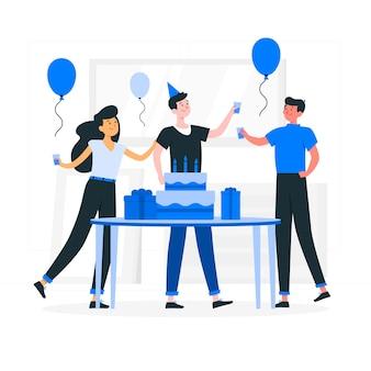 Ilustración del concepto de feliz cumpleaños