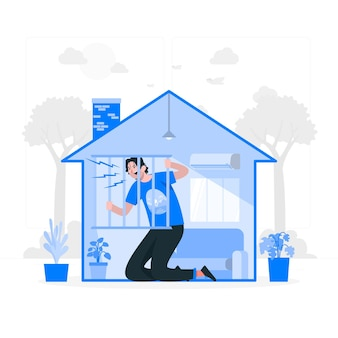 Ilustración del concepto de fiebre de cabina