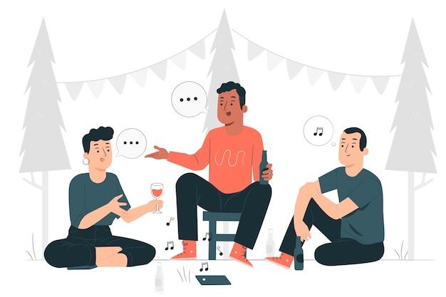 Ilustración de concepto de fiesta al aire libre