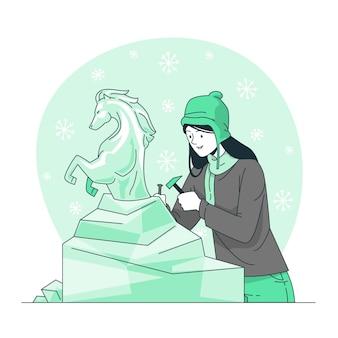 Ilustración del concepto de figura congelada