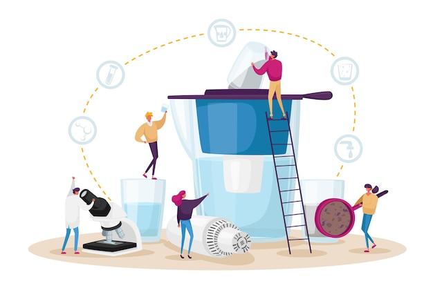 Ilustración del concepto de filtración de agua
