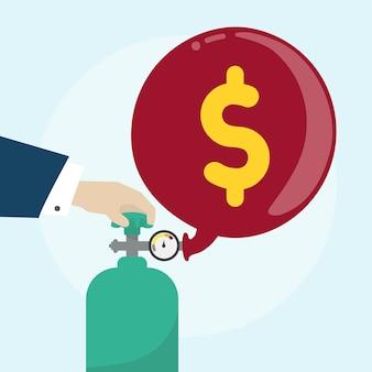 Ilustración del concepto financiero