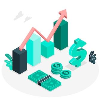 Ilustración de concepto finanzas