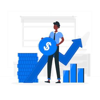 Ilustración del concepto de finanzas